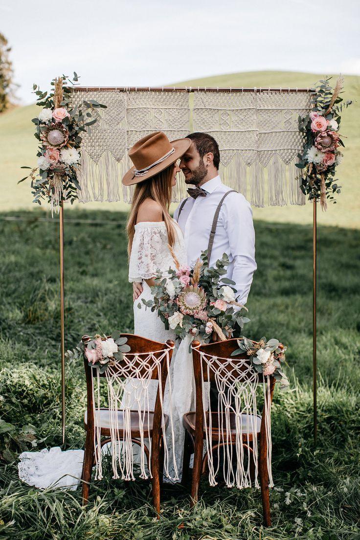 Inspirações rústicas para o casamento boho   – Backdrop Hochzeit