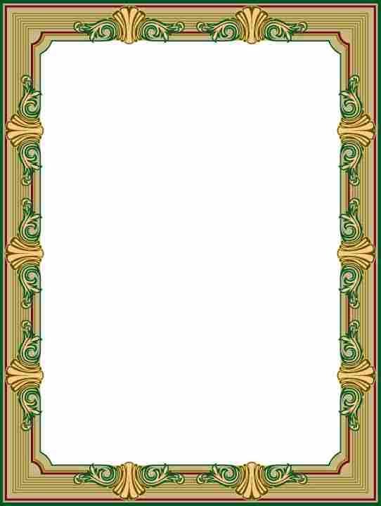 اطارات اسلامية للورد اجمل جديد 2016 Frame Border Design Picture Frame Designs Tile Design Pattern