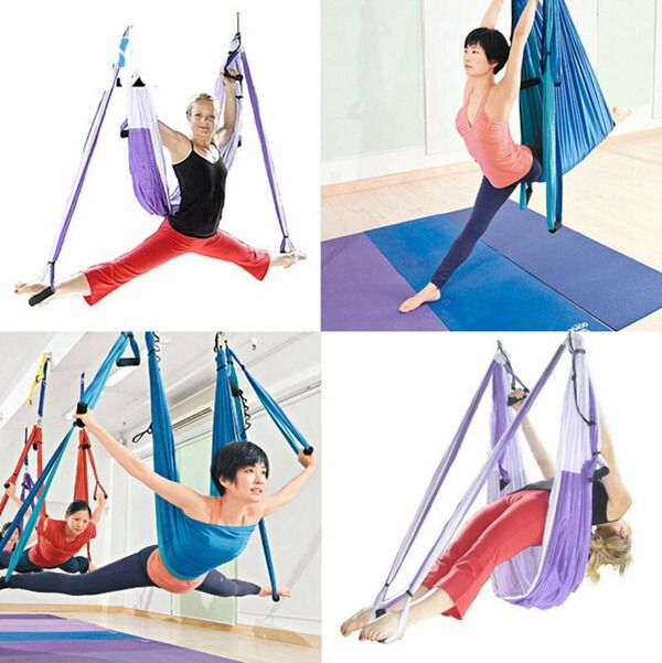 Yoga Swing Sling Trapeze Hammock For Gym Yoga Pilates Tool Bearing  www.JDKhealthandfitness.com