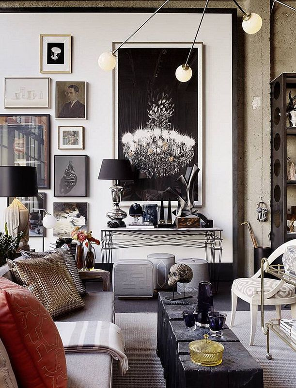 Exceptional (gallery Wall    Large Scale Art W/smaller Pieces, Art Running Vertically,  Low To The Floor) Jay Jeffers Home + Cavalier   Eclectic   Living Room    San ...