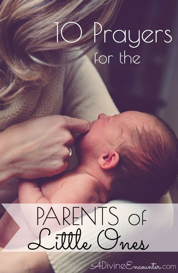 """Are you """"in the trenches"""" of parenting young children? Or perhaps you know a parent in this season of life. Here are 10 prayers for parents of little ones. Make #prayer a priority by praying the Scriptures for young moms!"""