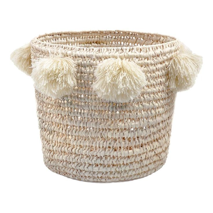 Pompom Louis Basket D34cm Rose in April Children- A large selection of Design on Smallable, the Family Concept Store - More than 600 brands.