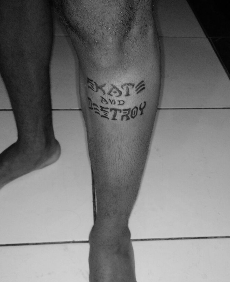 #skate #and #destroy #tattoo #thrasher tattoo skate and destroy thrasher