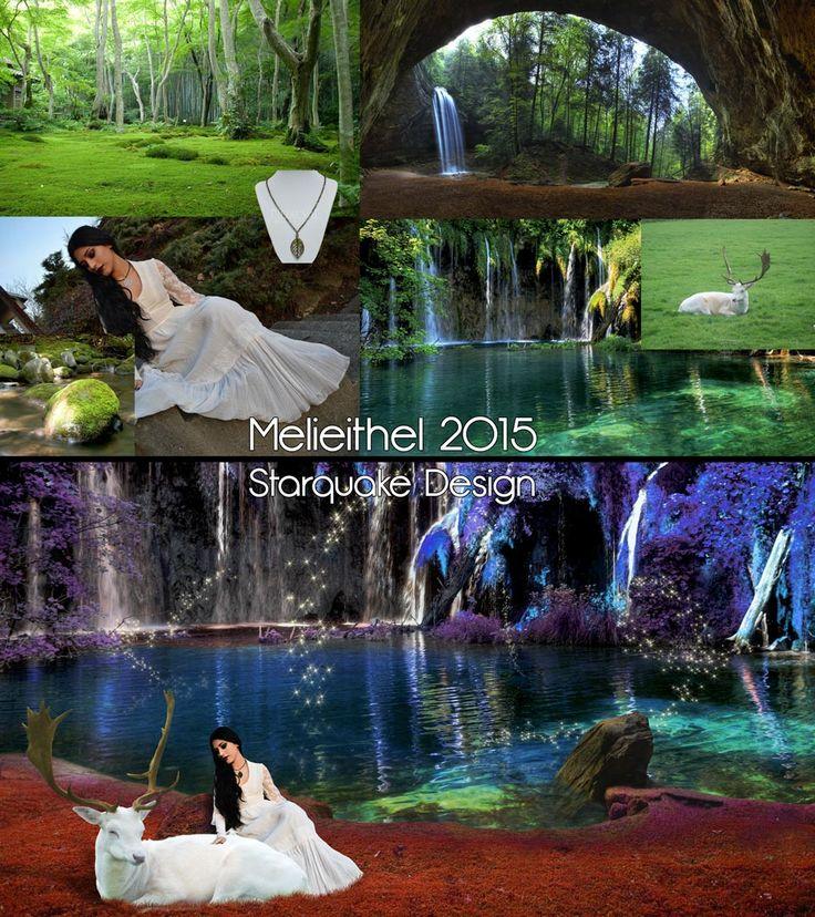 Melieithel - July 2015 #beforeafter #elf #fantasy #magicforest #pond   #photoshop #starquakedesign   CREDITS: Model: Mahafsoun Model photographer: Stephanie Nowak