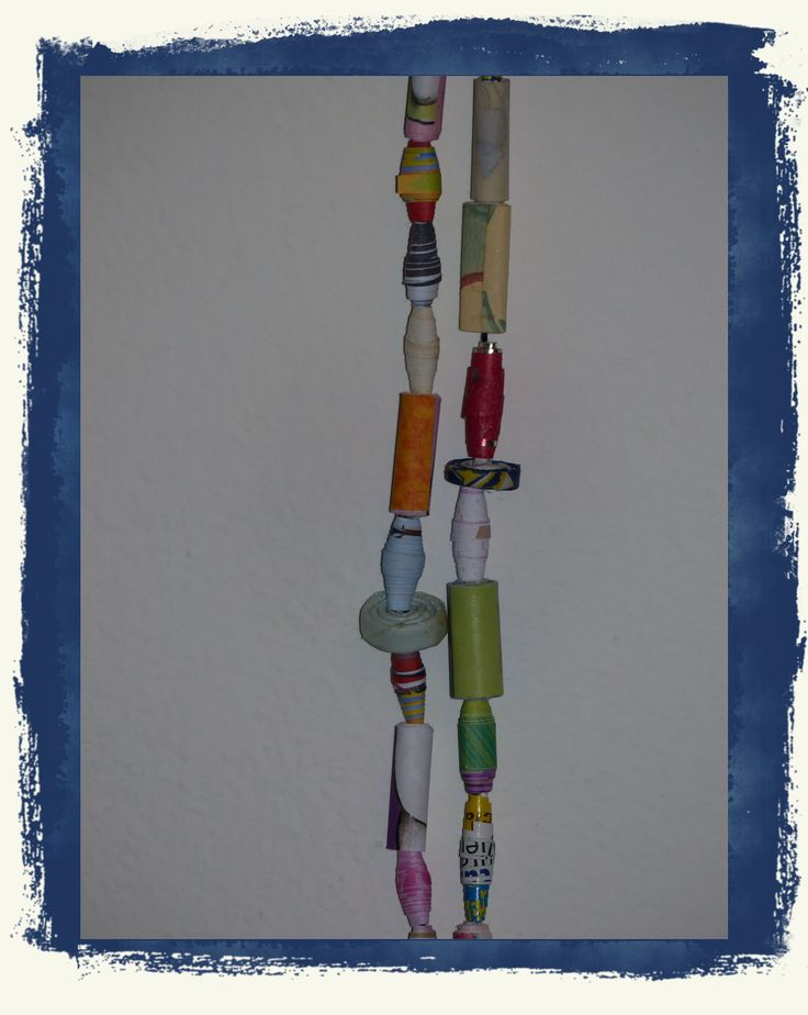 Collana di perle di carta riciclata - particolare - Carmen Benelli