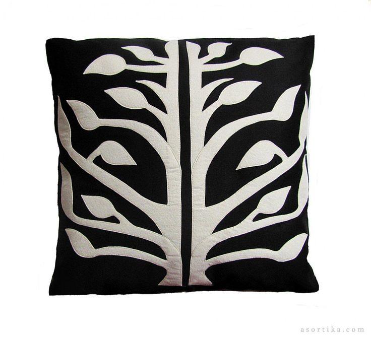 Hayat Ağacı El Yapımı Desen- Siyah Pamuklu Canvas Yastıklar - asortika.com #asortika #tasarım #ürünler #özeltasarım #elyapımı #elyapimi #dizayn #tasarimci #tasarım #onlinealışveriş #eticaret #tasarımdükkanı #tasarımcılar #art #design #handmade ade #handcraft #designer #yastık #pillow