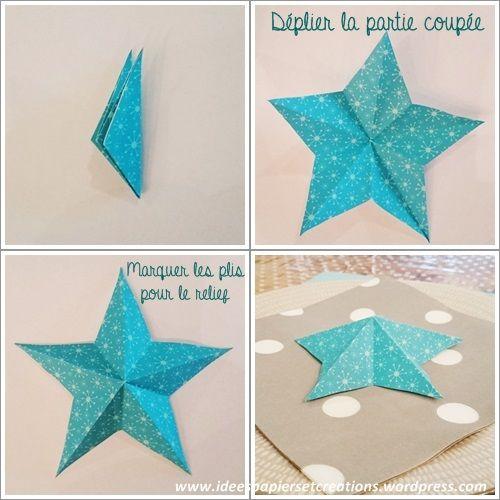 Création étoile papier origami 3
