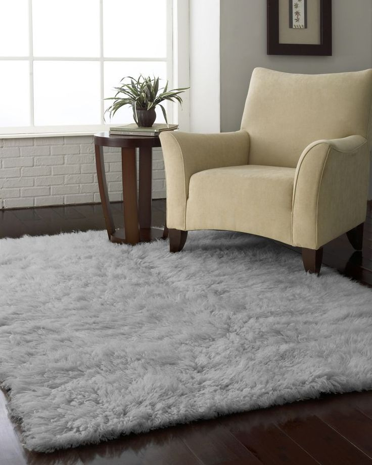 Marvelous Standard Shag Greek Flokati Natural Grey Rug | Contemporary Rugs