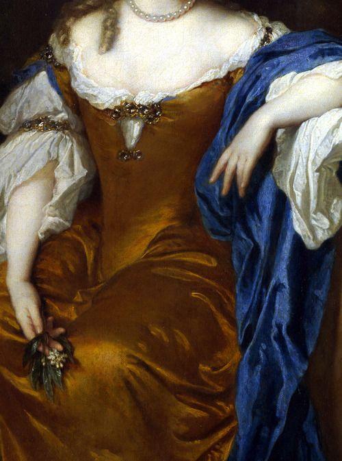 Portrait de femme (Détail) Caspar Netscher 1683