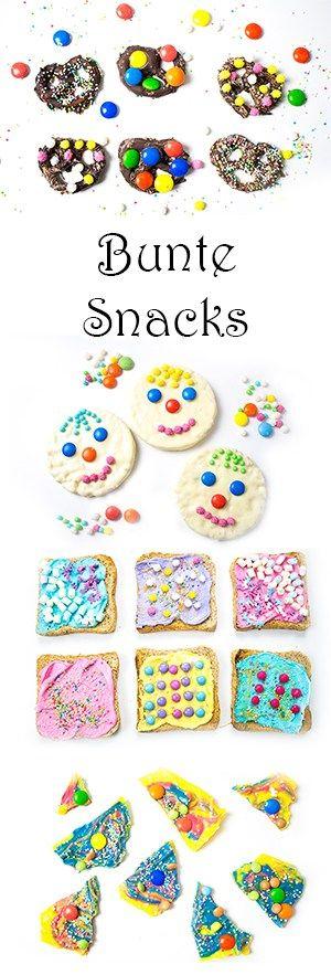 Bunte Party Snacks – perfekt für Fasching oder Kindergeburtstag