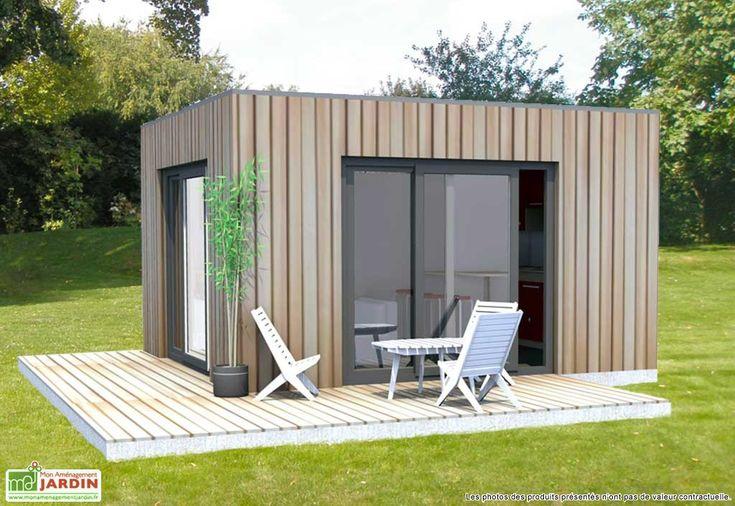 Un abri transformé en studio. http://www.m-habitat.fr/abri-de-jardin/les-types-d-abris/abri-de-jardin-a-toit-plat-1000_A