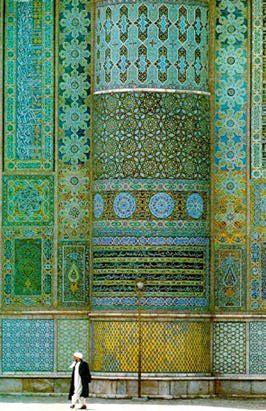 Islamic patterns / blue / green