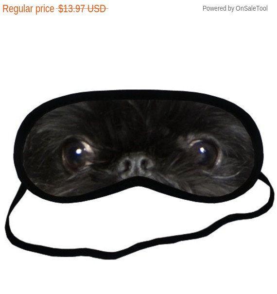 Brussels GRIFFON ogen hond Puppy liefhebbers collectie Comfort zwart slapen masker - Dog Lovers cadeauwinkel