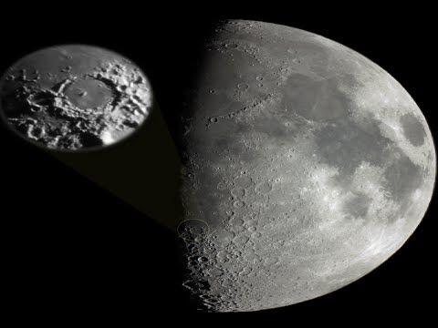 Луна движущиеся неопознанные объекты, НЛО, пирамиды.