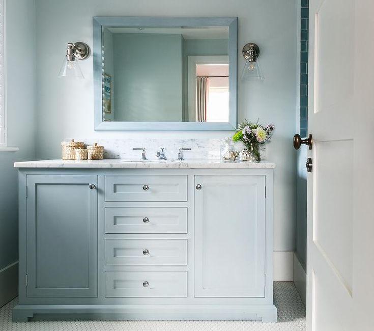 What Paint Finish For Bathroom Walls: Best 25+ Blue Bathroom Paint Ideas On Pinterest