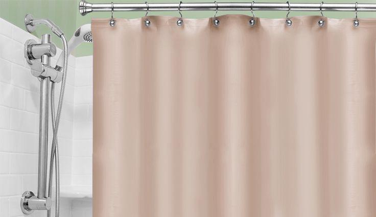 Vinyl Hotel Shower Curtain Liner