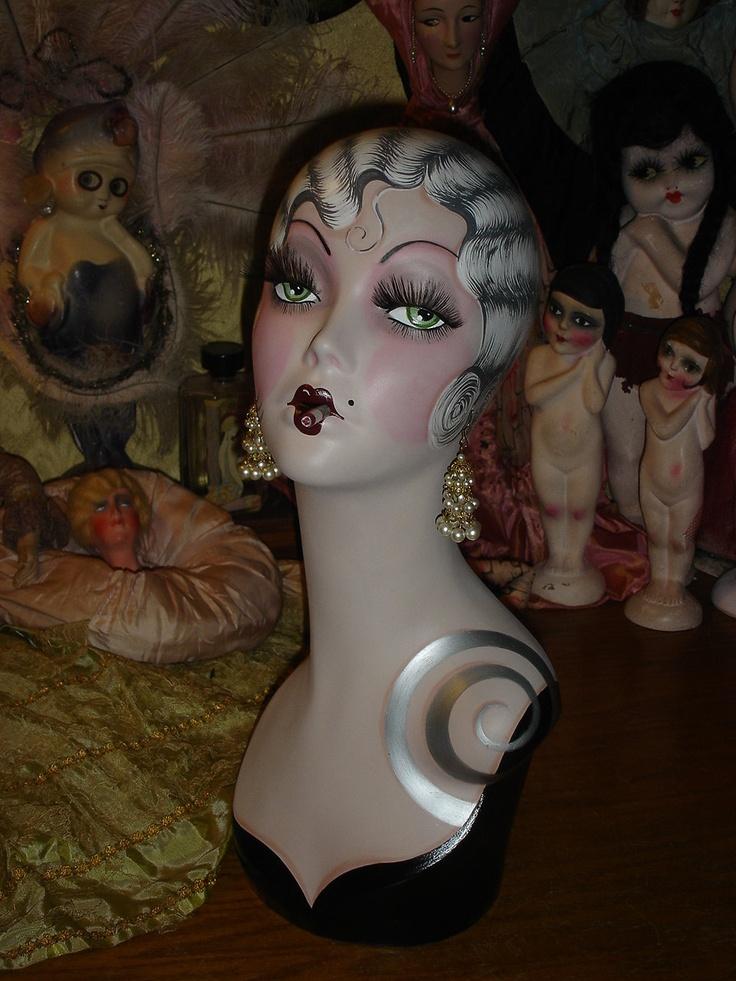 62 best images about my hand painted flapper art mannequins on pinterest. Black Bedroom Furniture Sets. Home Design Ideas