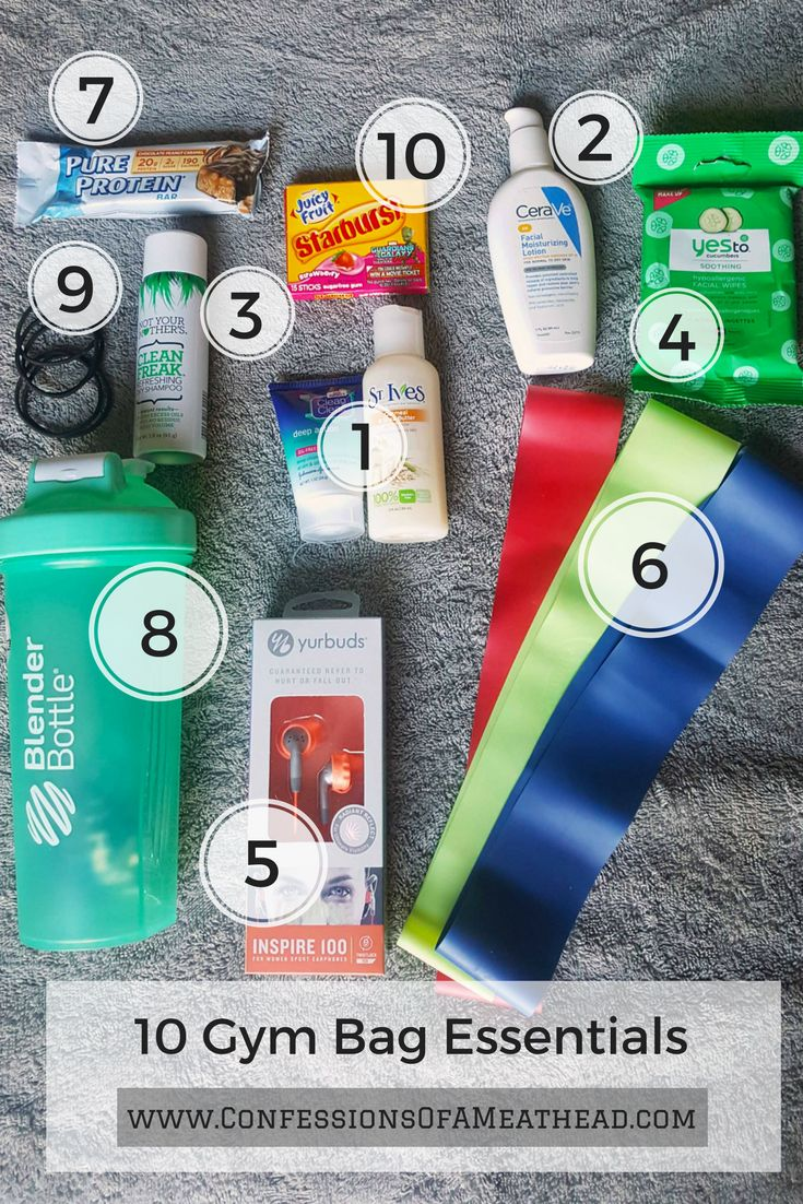 10 gym bag essentials every woman needs for a successful trip to the gym!