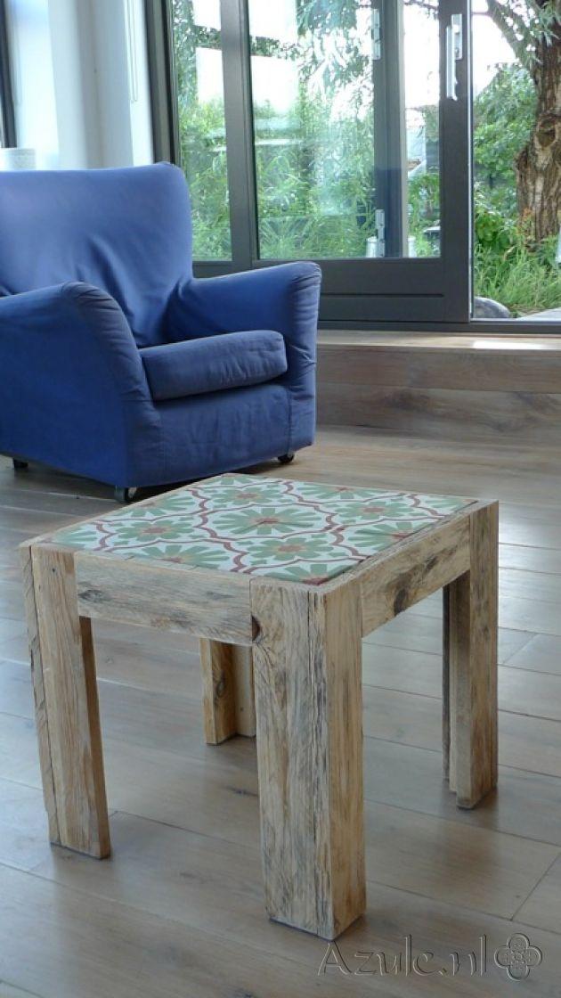 Cement Tiles Furniture - Verde  02 - Project van Designtegels.nl