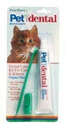 Essential: Dental care is so important! Cats can get very sick from rot in their teeth. Start early! Four Paws Dental Care Kit For Cats | Cat | Pet Supermarket