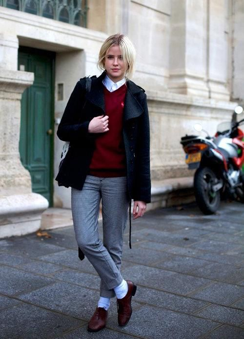 how to wear oxfords women | ... her Oxford/Brogues shoes and is a great example on how to wear them