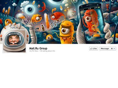 Mail.ru Facebook Cover Full  #design