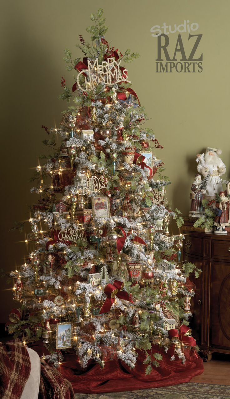Non traditional christmas tree ideas - 60 Gorgeously Decorated Christmas Trees From Raz Imports