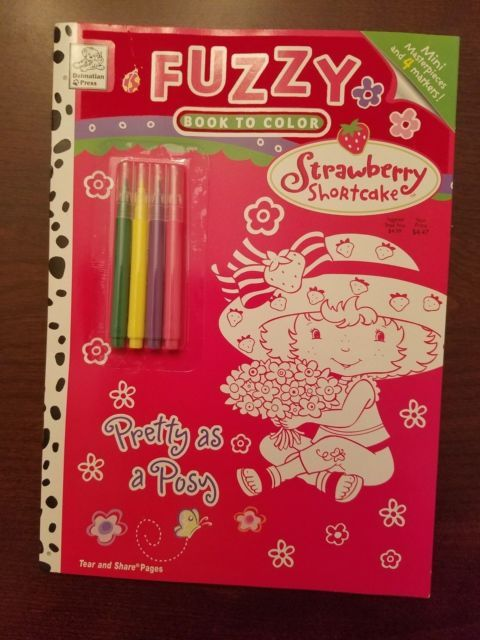 2004 Strawberry Shortcake Activity Book Pretty As a Posy Book with Fuzzy Posters NEW! | eBay