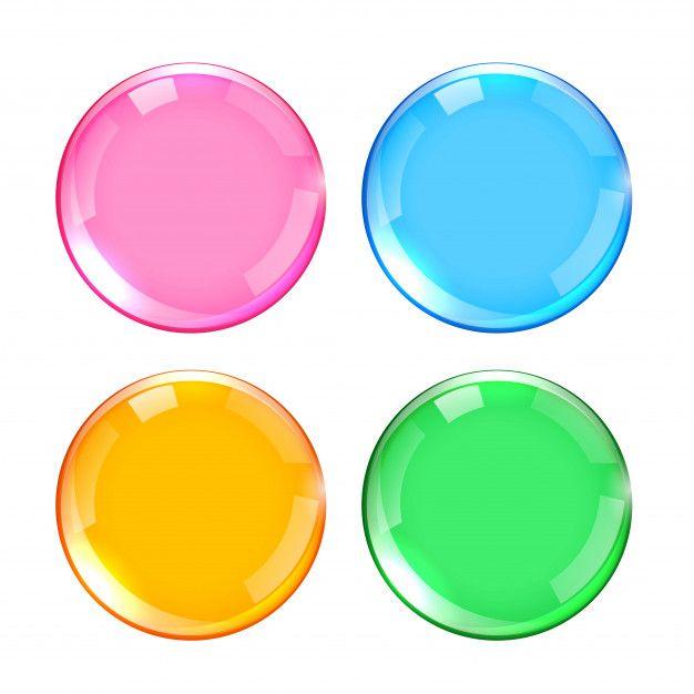 Conjunto De Botones Brillantes De Cuatro Free Vector Freepik Freevector Etiqueta Circulo Bot Colores Brillantes Circulos De Colores Estilos De Fuente