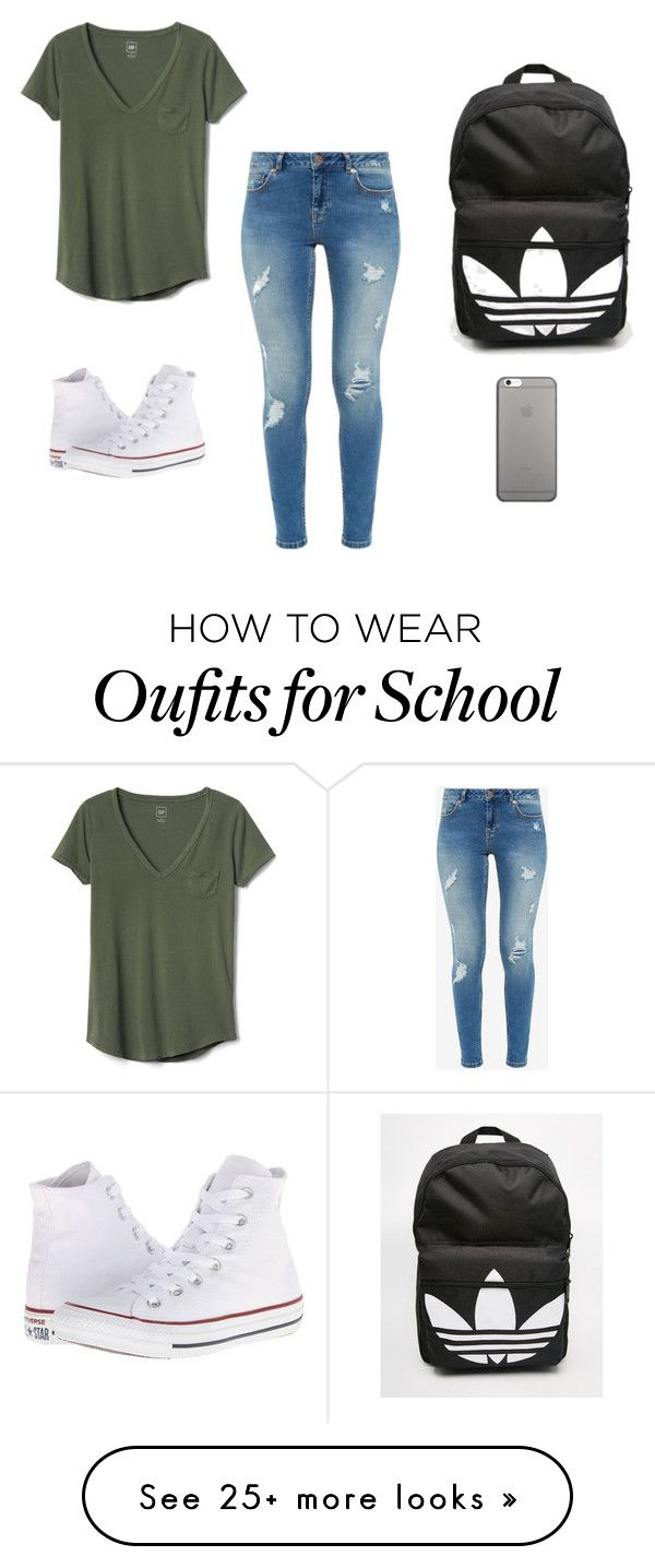 """School, School, and Teachers"" by kaleshabarnett on Polyvore featuring Gap, Ted Baker, Converse, adidas and Native Union"
