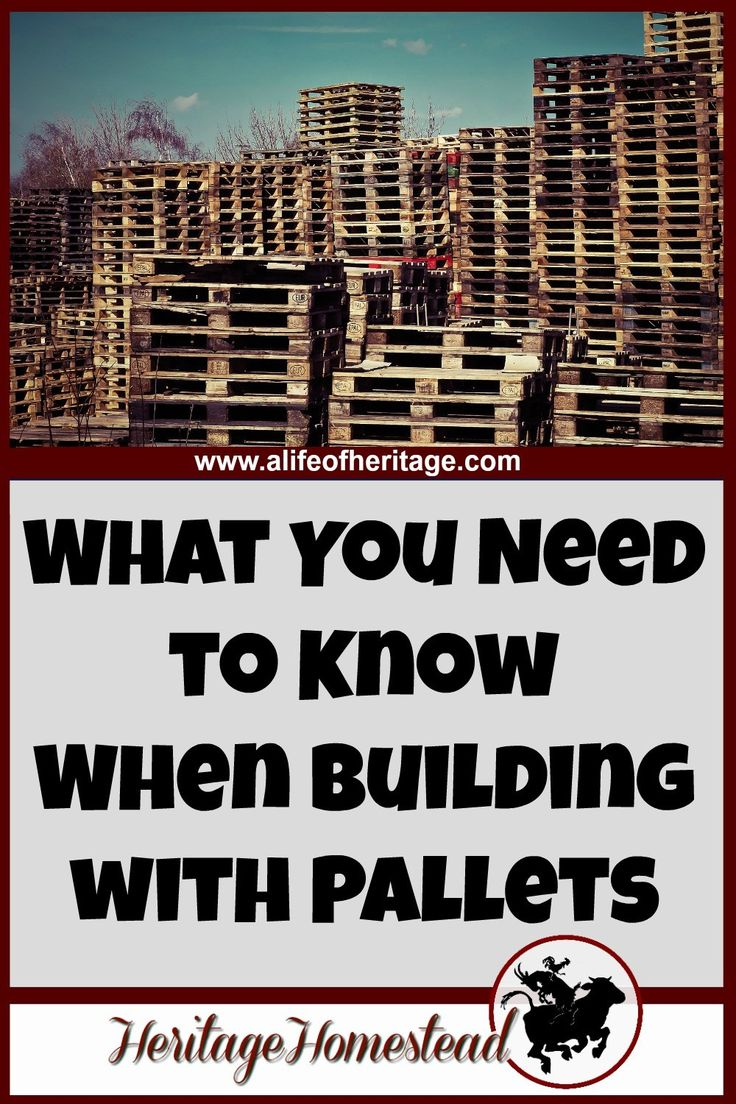 There are at least 5 things you need to think about when you are working with pallets. They are a great tool: when used properly theyre even more brilliant!