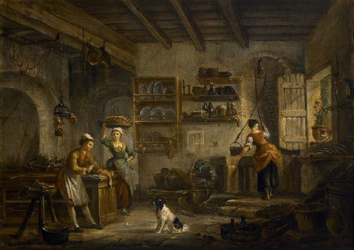 La cuisine - 2e moitié du 18e siècle - France