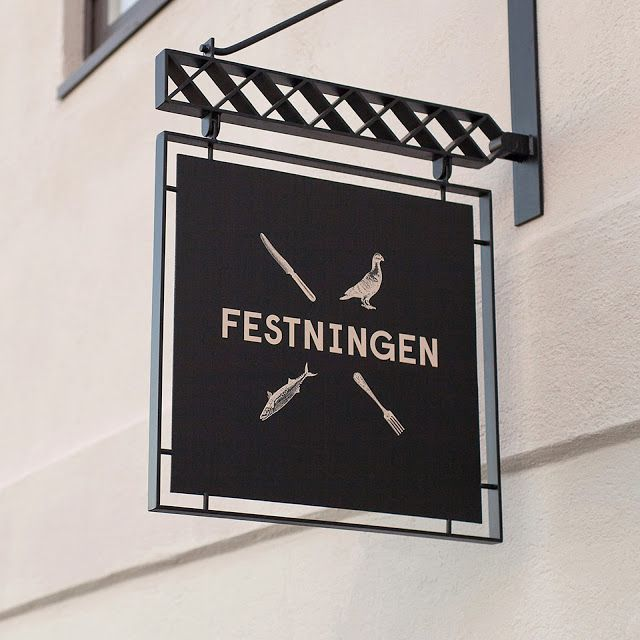 First of all, I like this signage as whole, including the hanging operation here. I don't see images in our branding.
