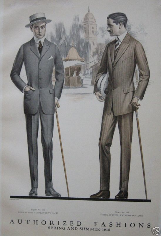 More Men S Quot Sack Suits Quot 1915 Turn Of The Century