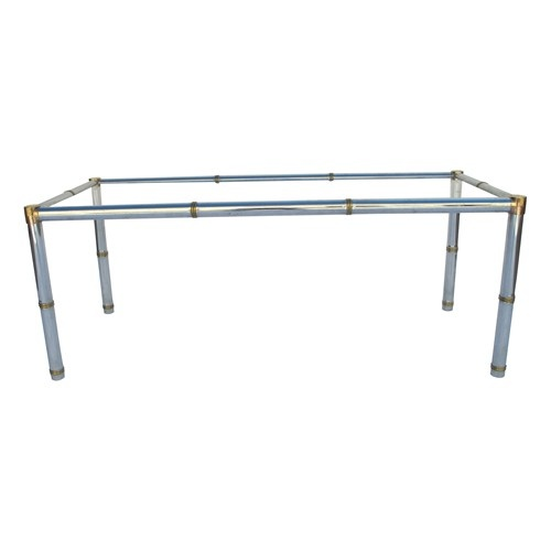 Bamboo-Style Coffee Table - this with a glass or acrylic top would work in almost any living room, the slim legs and clear top are perfect space saving illusions