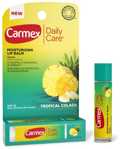 Daily Care moisturizing lip balm from Carmex is a flavored lip balm with SPF for the best sun protection for your lips. Discover your favorite flavor today.
