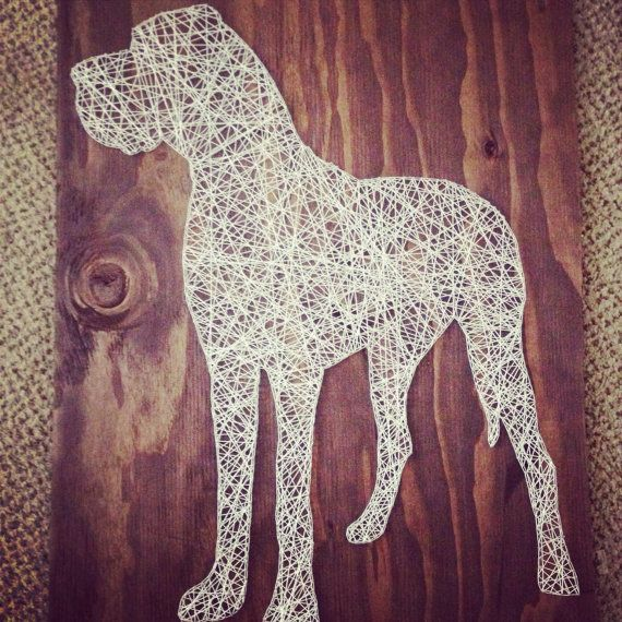 Large Great Dane String Art by nidification on Etsy