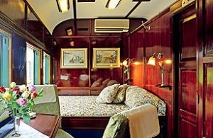 A sleeping compartment on the Orient Express!