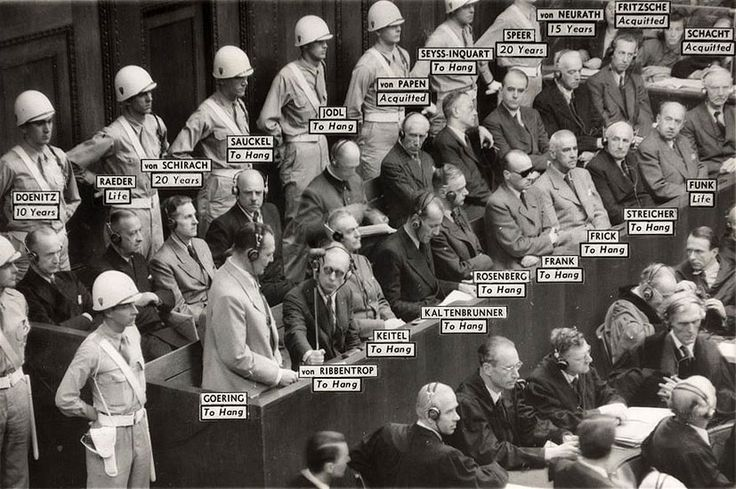 Nazi leaders and their decided fates at the Nuremberg war crimes trial. (My Grandmother served the courts during these trials and received the medal of freedom, the highest medal awarded to civilians).