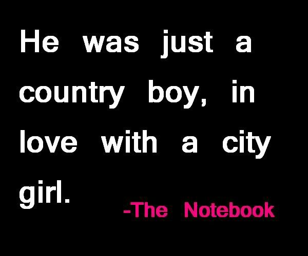 Country boy and City girl <3 <3 <3