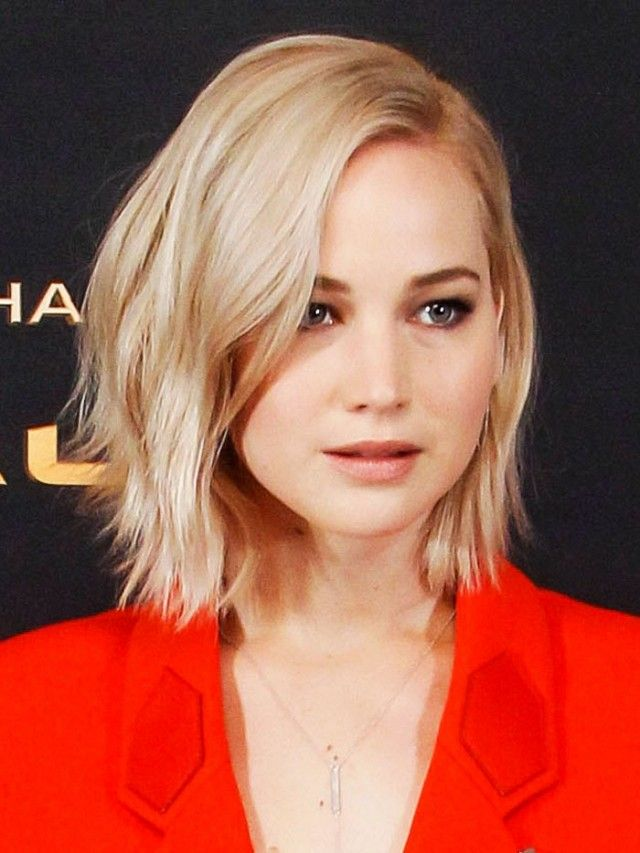 Jennifer Lawrence blazer dress - hair