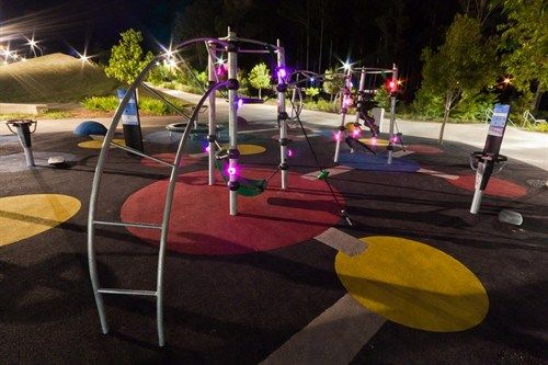 Computer Game style playground in Springfield Lakes, Queensland