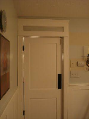 Swing door laundry room option
