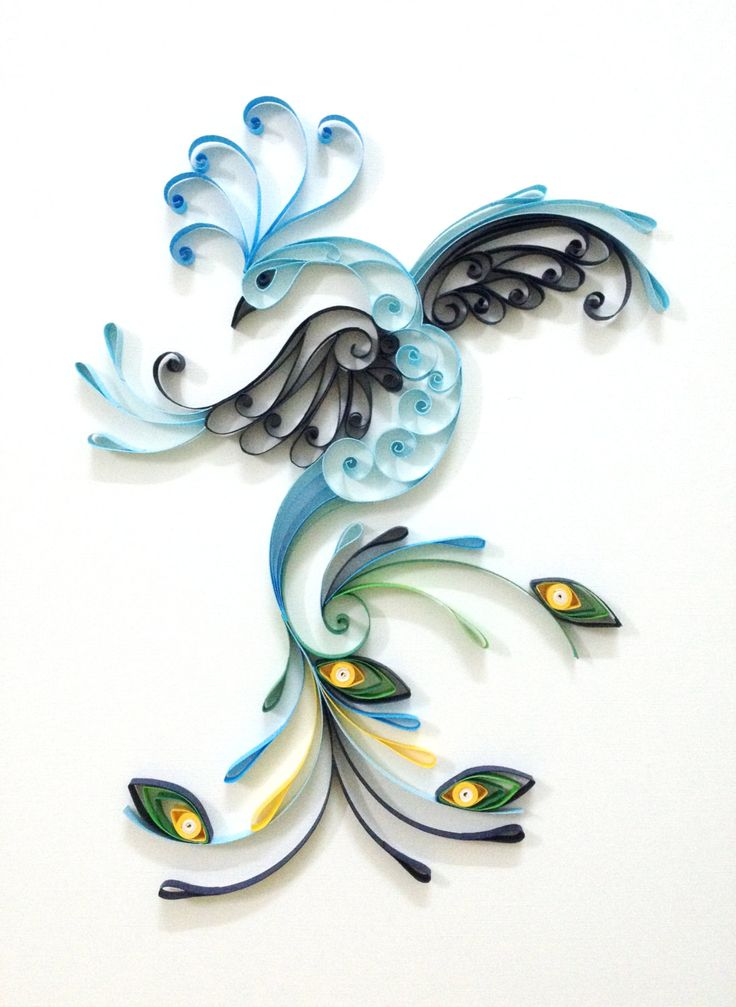 "Paper quilling ""Peacock"" by Hyvoky on Etsy"