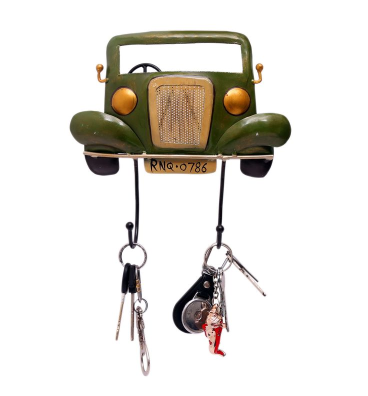 The key holder has hooks for your house, car, garage and other keys. The key knobs have been carefully designed to hold your keys. This key holder can be hung at any place in your house to keep keys secured and can also be used as a wall decoration piece. It also serves as a great gift.