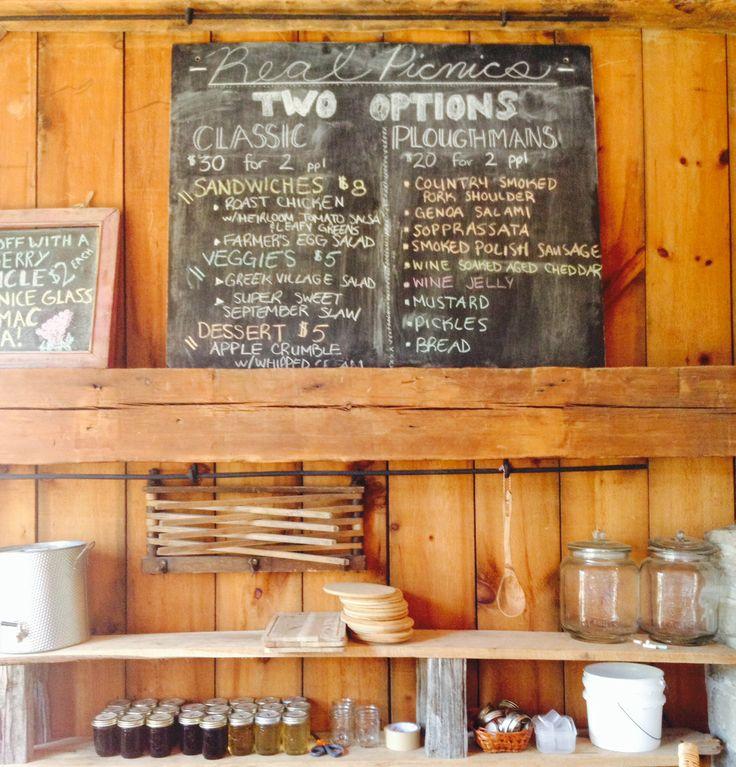 Lunch board @ The Grange Winery