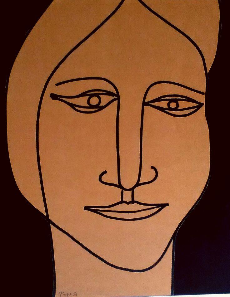 """N.8 """"L'ATTRICE"""", Milano 1988 Carboncino su carta marrone 510 x 700 mm"""