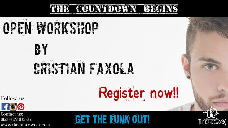 Get ready for another round of madness! Jumps, twists & a lot more! The Danceworx presents Urban Hip-hop/Funk Workshop by none other than CRISTIAN FAXOLA from Brazil!  Schedule: Vasant Valley Studio- 8th Feb'14 at 4pm Patel Nagar Studio- 15th Feb'14 at 4pm Noida Studio- 22nd Feb'14 at 4pm #thedanceworx #dance #arts #workshop #urbanhiphop