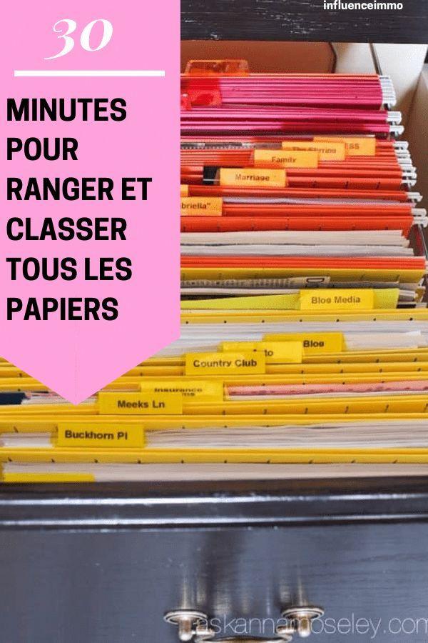 La Super Technique Pour Ranger Tous Vos Papiers En 30 Minutes Rangement Papier Administratif Papier Administratif Rangement Papier