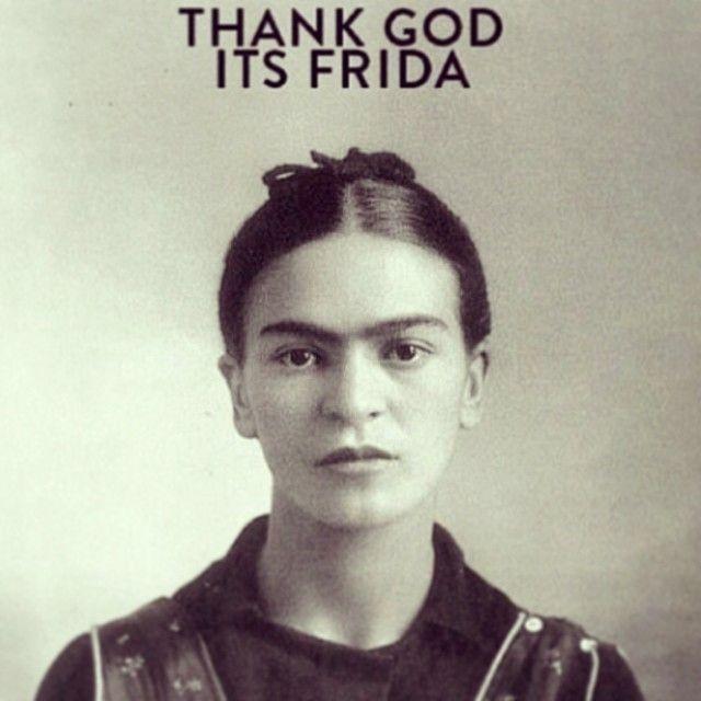 Thank God it's Friday   Frida Kahlo   TGIF   funny   mexican revolution   iconic artist   young Frida